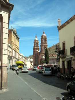 mexico zacatecas downtown